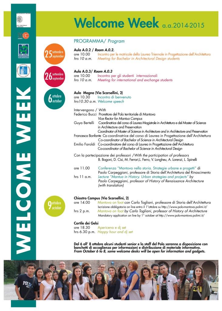 Welcome week 2014-15